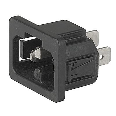 6120-5 6120-5 - IEC connetor C16A  snap-in mounting from frontside with solder- or quick-connect terminal en IM0005604